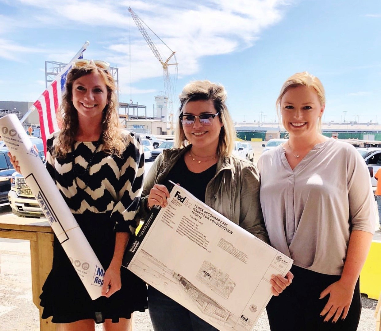 FedEx Jobsite, Yates Construction, Women in Construction